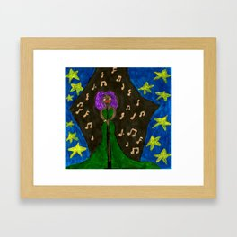 Jazz Lady Framed Art Print