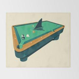 Pool shark Throw Blanket