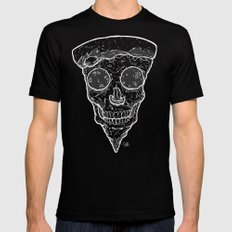 Skull Slice BW Mens Fitted Tee X-LARGE Black