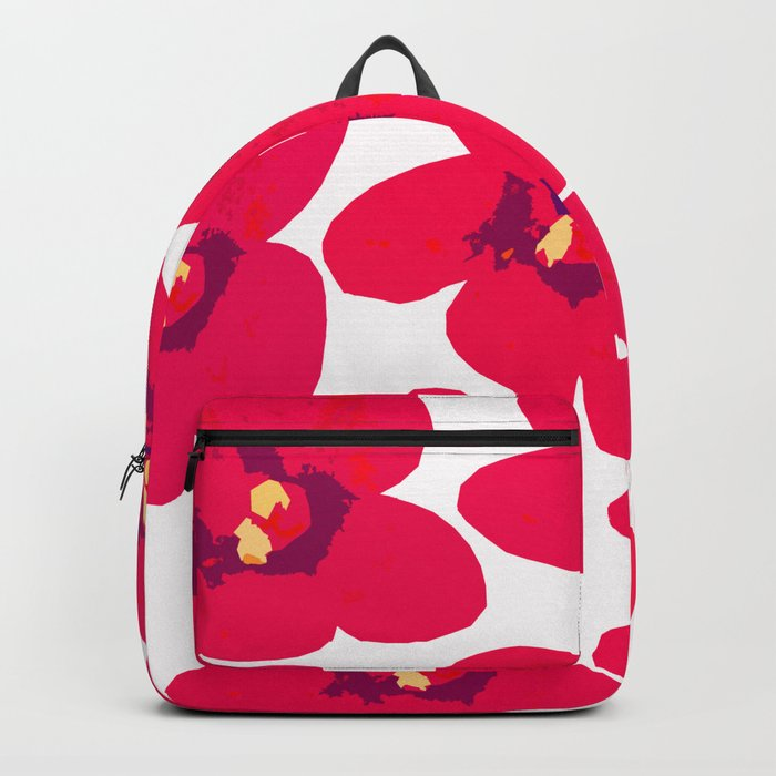 Red Retro Flowers #decor #society6 #buyart Backpack