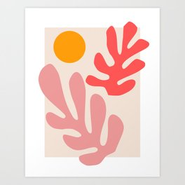 Henri Matisse - Leaves - Blush Art Print
