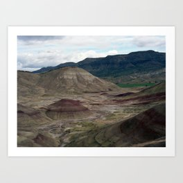 Painted Hills Of Oregon Art Print