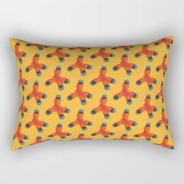 Orange Methane Molecule Rectangular Pillow