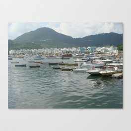 Boats& The Green Canvas Print