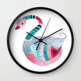 Love Bird Swan Wall Clock