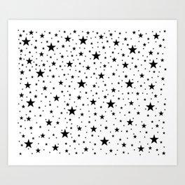 Full Stars bstract Pattern Art Print