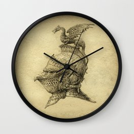 Knight Fantasy Grunge Wall Clock