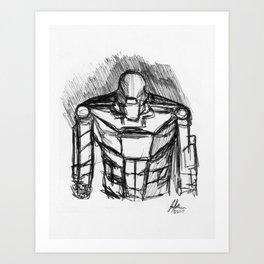 Warbot Sketch #051 Art Print