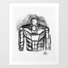 Warbot Sketch #051 Art Print