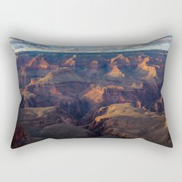 South Rim - Grand Canyon Illuminated in Evening Sunlight Rectangular Pillow