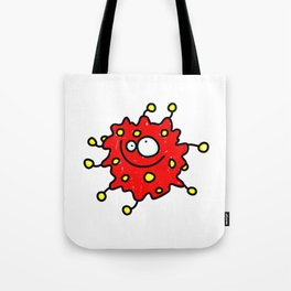 Red Doodle Germ Tote Bag