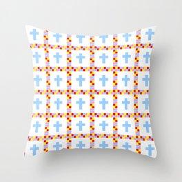 Christian Cross 45 Throw Pillow