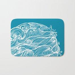 Rough sea (our earth) Bath Mat