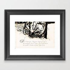 Peaceful Wheel Framed Art Print
