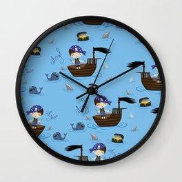 Pirate Story Wall Clock