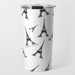 Bonjour Eiffel Tower in Paris Travel Mug