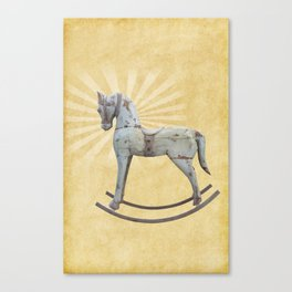 Vintage rocking horse - Toy Photography #Society6 Canvas Print
