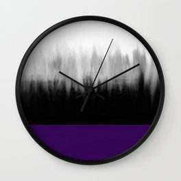 Asexuality Spectrum Flag Wall Clock