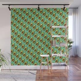 Avocados on Aqua, Diagonal Wall Mural