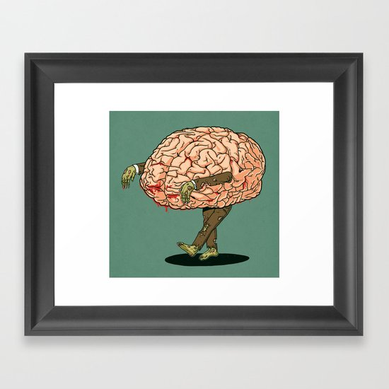 Zombie meal Framed Art Print