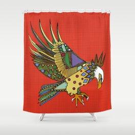 jewel eagle fire Shower Curtain