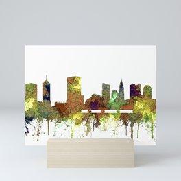 Columbus, Ohio Skyline SG - Safari Buff Mini Art Print