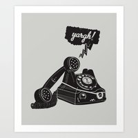 booty Art Prints featuring Booty Call! by Ryder Doty