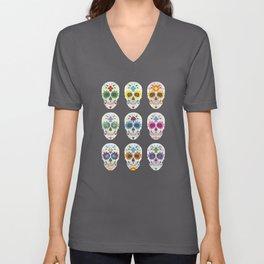 Nine skulls Unisex V-Neck