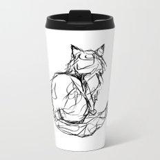 Kitty Gesture Metal Travel Mug