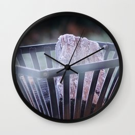 Frosty Fire Pit Wall Clock
