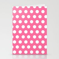 minnie mouse Stationery Cards featuring Minnie Mouse Dots | Pink by DisPrints