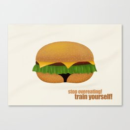 train yourself! Canvas Print