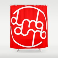 kpop Shower Curtains featuring Dumbx2 by iiahfornow
