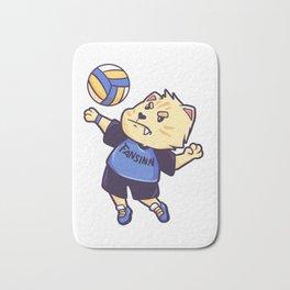 Cat Volleyball premium sports gift Bath Mat