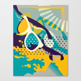 Retro Summer Canvas Print