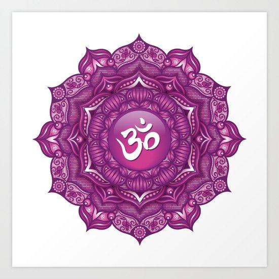 Crown Chakra Mandala #07 Art Print by serenaking | Society6