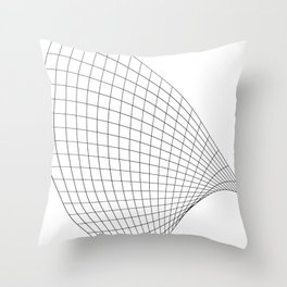 Abstract wireframed waving surface Throw Pillow