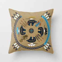 American Native Pattern No. 114 Throw Pillow
