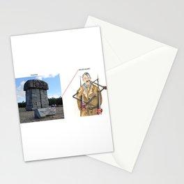 Real vs. Art: Treblinka - Never Again! Stationery Cards