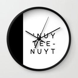 'nuytee-nuyt (Nighty-Night) Wall Clock