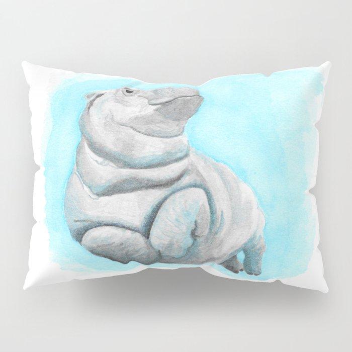 Baby Hippo Underwater Fantasia Ballet Pillow Sham