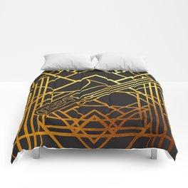 Art Deco Basun Comforters