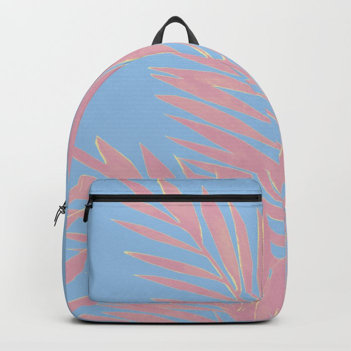 Palm Leaves Pink And Blue Backpack