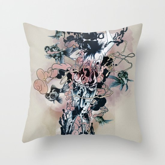 Decay (Full) Throw Pillow