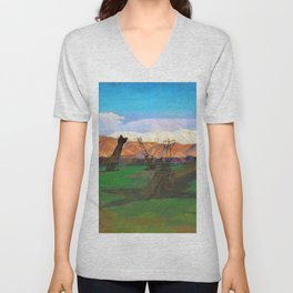 A Destroyed Turkish Aerodrome at Rayak, Lebanon - Sydney William Carline Unisex V-Neck