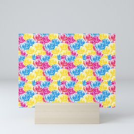 Splashy Spring Roses Mini Art Print