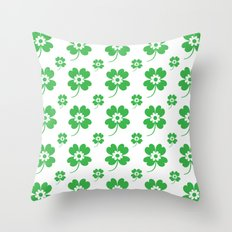 lucky flower Throw Pillow