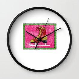 Lovely Gift Ice Skating Tshirt Design I'm at home Wall Clock