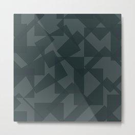 grey pattern // geometric Metal Print