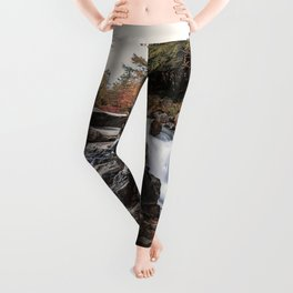 Waterfall at Rocky Gorge Leggings